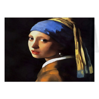 Girl with a Pearl Earring After Johannes Vermeer Card