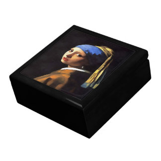 Girl with a Pearl Earring After Johannes Vermeer Gift Box