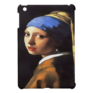 Girl with a Pearl Earring After Johannes Vermeer iPad Mini Cover