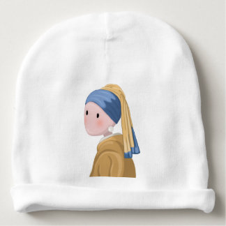 Girl with a Pearl Earring Baby Beanie