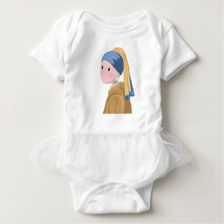 Girl with a Pearl Earring Baby Bodysuit