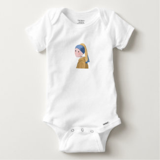 Girl with a Pearl Earring Baby Onesie