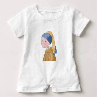Girl with a Pearl Earring Baby Romper