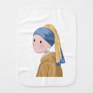 Girl with a Pearl Earring Burp Cloth