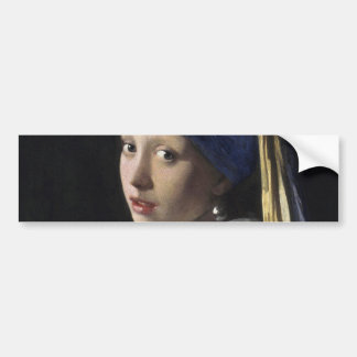 Girl with a Pearl Earring by Johannes Vermeer Bumper Sticker
