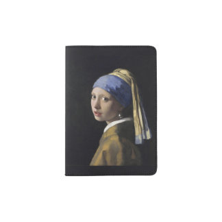 Girl with a Pearl Earring by Johannes Vermeer Passport Holder