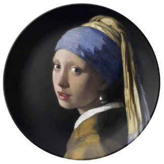 Girl with a Pearl Earring by Johannes Vermeer Plate