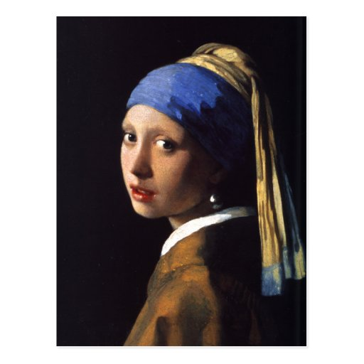 Girl with a pearl earring. By Johannes Vermeer Post Card