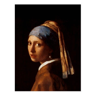 Girl with a Pearl Earring by Johannes Vermeer Postcard