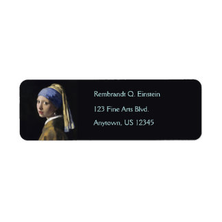 Girl with a Pearl Earring by Johannes Vermeer Return Address Label
