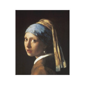 Girl with a Pearl Earring, c.1665-66 Gallery Wrapped Canvas