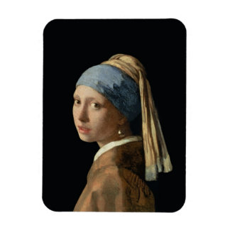 Girl with a Pearl Earring, c.1665-6 (oil on canvas Magnet