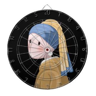 Girl with a Pearl Earring Dartboard
