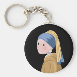 Girl with a Pearl Earring Keychain