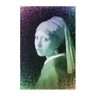 Girl with a Pearl Earring modern remake Acrylic Wall Art