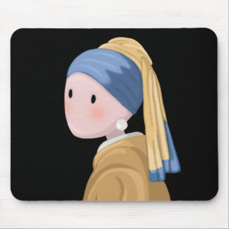 Girl with a Pearl Earring Mouse Pad