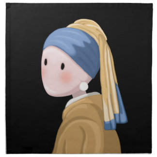 Girl with a Pearl Earring Napkin