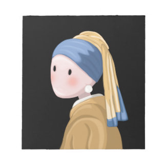 Girl with a Pearl Earring Notepad