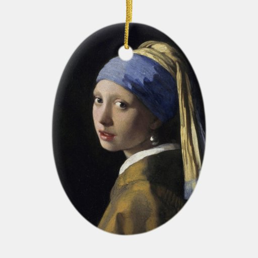 Girl with a Pearl Earring Christmas Ornaments