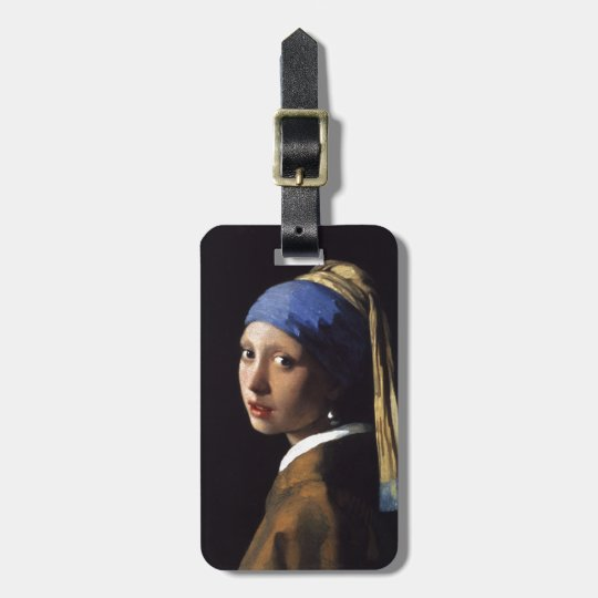 Girl with a Pearl Earring Painting by Vermeer Luggage Tag