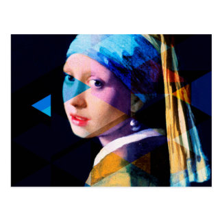 Girl with a pearl earring REMIXED Postcard