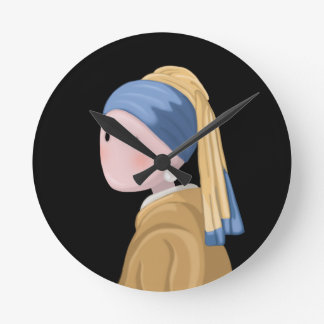 Girl with a Pearl Earring Round Clock