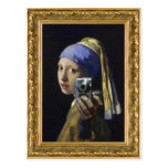 Girl with a Pearl Earring - self shot Post Cards