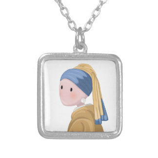 Girl with a Pearl Earring Silver Plated Necklace
