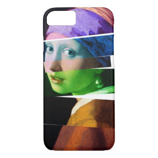 Girl with a pearl earring SPLICED iPhone 7 Case