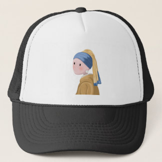 Girl with a Pearl Earring Trucker Hat