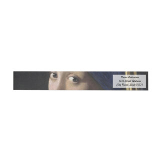 Girl with a Pearl Earring Wrap Around Label