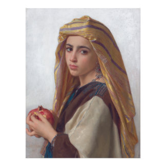 Girl With a Pomegranate by W.A. Bouguereau Art Photo