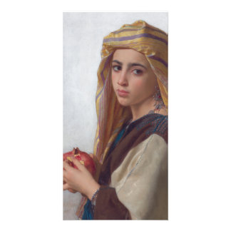 Girl With a Pomegranate by W.A. Bouguereau Picture Card