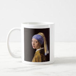 Girl with a Poop Earring (Lefty) Coffee Mug
