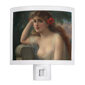 Girl with a Poppy by Emile Vernon Nite Lites