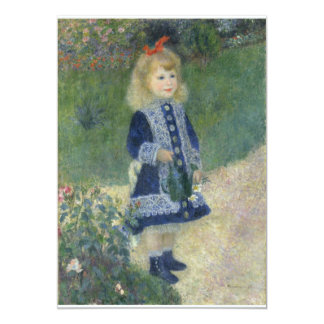 "Girl with a Watering Can Renoir 5"" X 7"" Invitation Card"