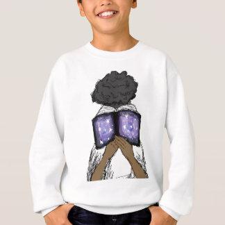 Girl with Afro Reading Sweatshirt