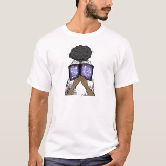 Girl with Afro Reading T-Shirt