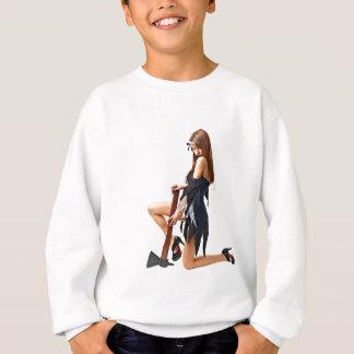 Girl with axe sweatshirt