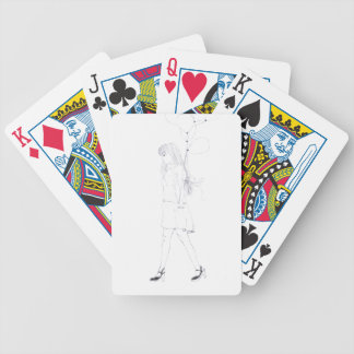 Girl with Balloons Bicycle® Poker Playing Cards