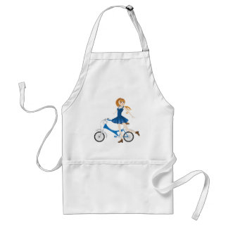 Girl with Bicycle 2 Standard Apron