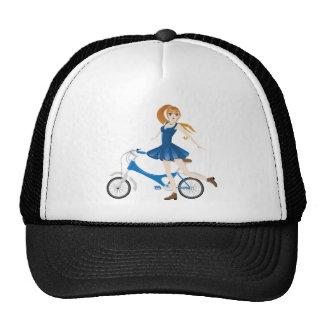 Girl with Bicycle 2 Trucker Hat