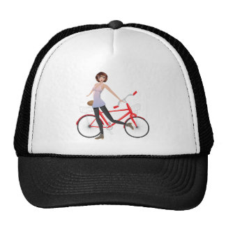Girl with Bicycle Trucker Hat