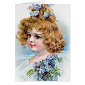 Girl with Blonde Curls, Card