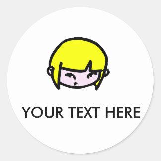 Girl with blonde hair | Sticker