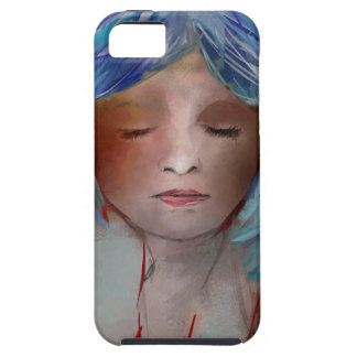Girl with Blue Hair iPhone 5 Case