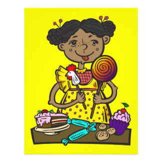 Girl With Candy and Cakes Flyer