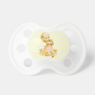 girl with chickens pacifier