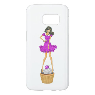 Girl with Cupcake Samsung Galaxy S7 Case