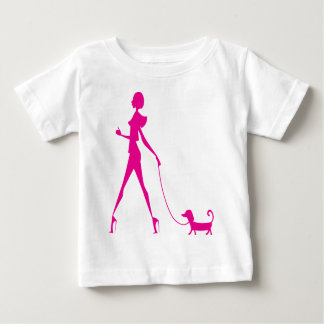 girl with dog baby T-Shirt